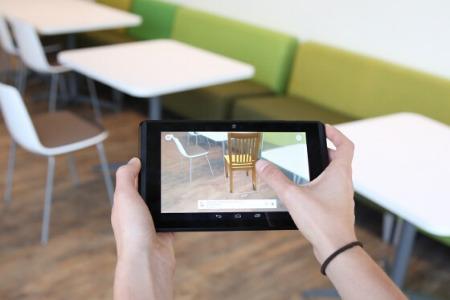 la realtà aumentata permette di provare i mobili dentro casa